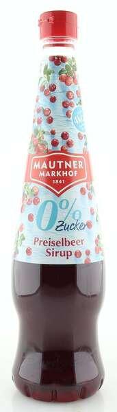 Mautner Markhof 0% Zucker Sirup Preiselbeere