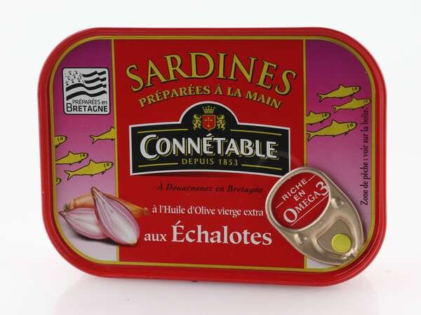 Connetable Sardinen mit Olivenöl und Schalotten der Bretagne 135 g