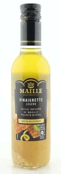 Maille Dressing mit Basilikum-Öl, Honig und Zitronenschale 360ml