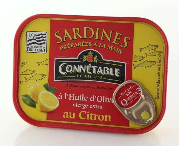 Connetable Sardinen eingelegt in Olivenöl mit Zitrone 135gr. / Atg. 102gr.