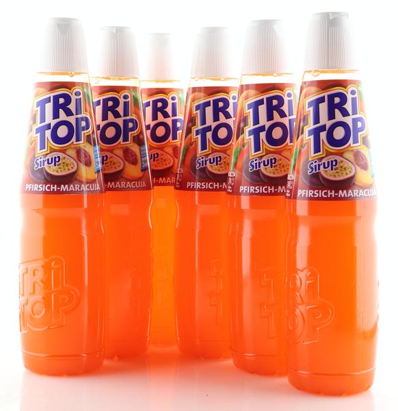6 X TRi TOP Sirup Pfirsich-Maracuja 0,6L