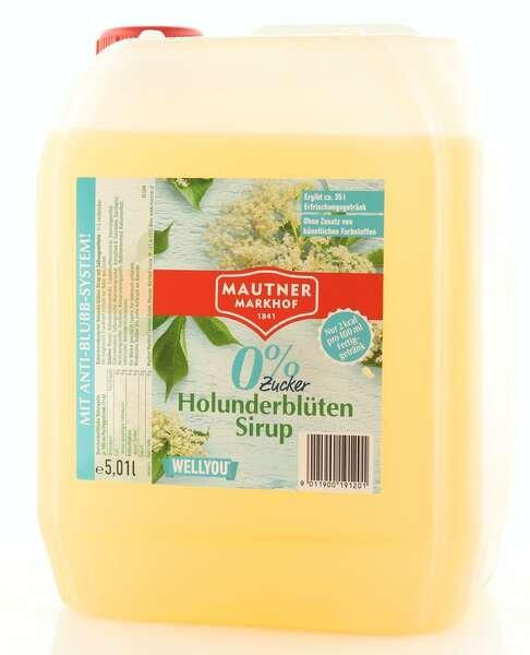 Mautner Markhof 0% Zucker Sirup Holunderblüte 5L