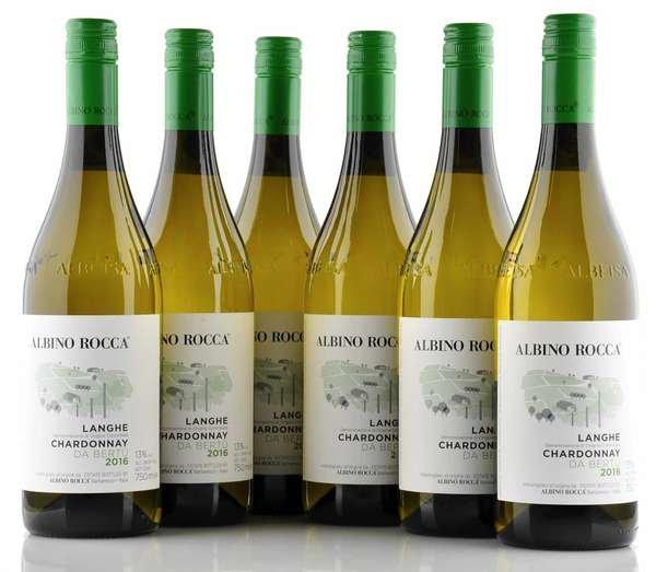 6 X Albino Rocca Langhe Chardonnay Da Bertü 2016 0,75L