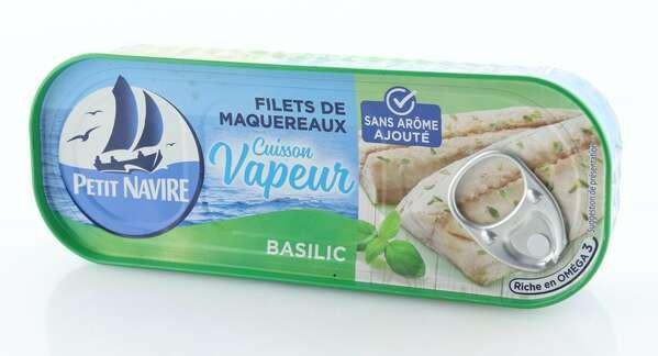 Petit Navire gedämpfte Makrelenfilets mit Basilikum 110g