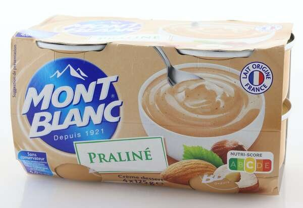 Mont Blanc Cremedessert Praline 4x125g
