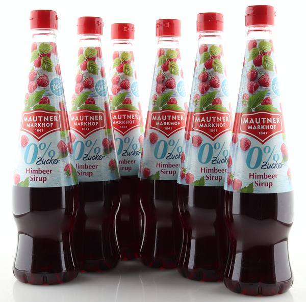 6 X Mautner Markhof 0% Zucker Sirup Himbeere