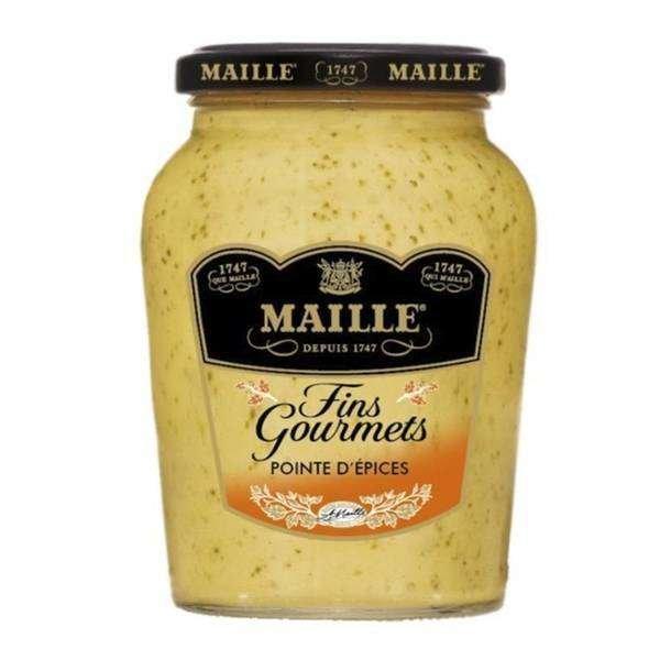 Maille feiner Gourmet Senf mit Gewürzen im 340gr. Glas