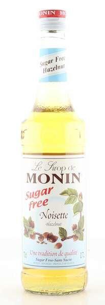 Monin Sirup Haselnuss 0% zuckerfrei 0,7L Flasche