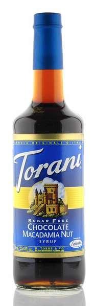 Torani Sirup Schokolade Macadamia Nuss zuckerfrei 750ml Flasche